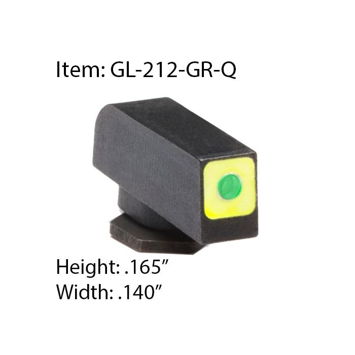 Muška pro Glock Ameriglo Pro-Glo GL-212-GR-Q