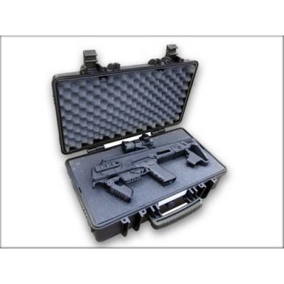 Vodotěsný kufr s pěnou na karabinovou konverzi a příslušenství
